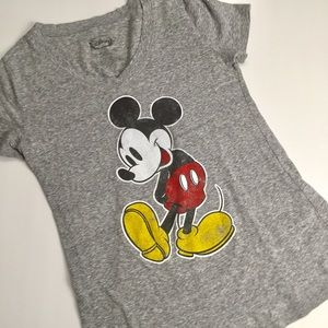 Disney Mickey Mouse Gray T-shirt Size Small